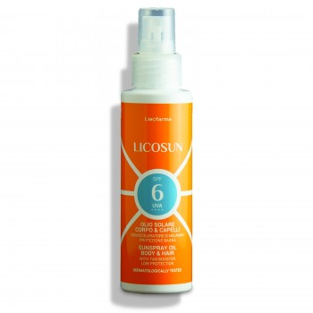 Sunspray Oil Body & Hair Low Protection SPF 6 UVA UVB with Tan Booster