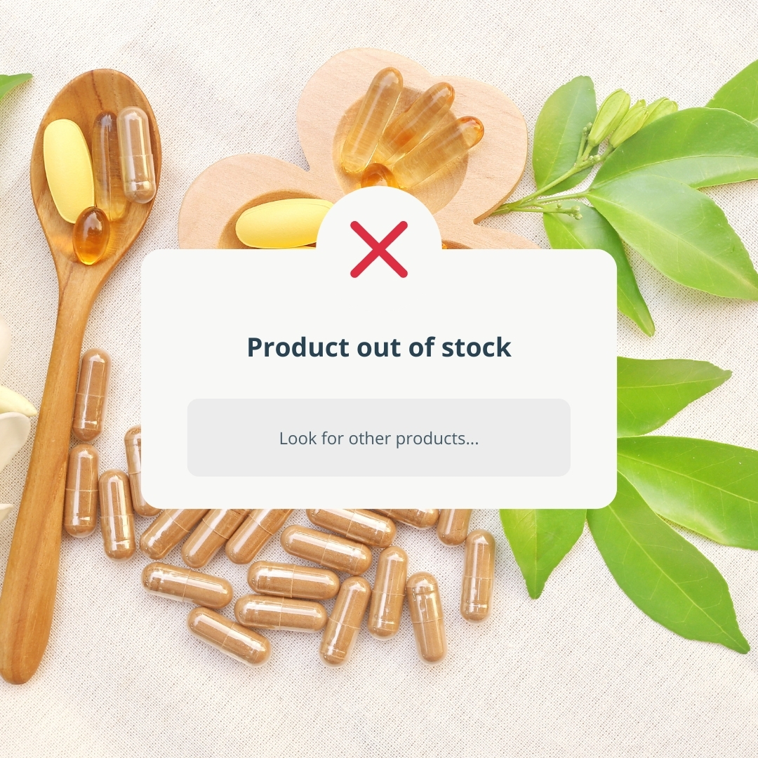 supplement out of stock